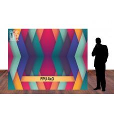 Fabric Pop Up 4x3 Straight
