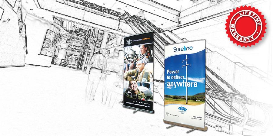 BannerAd Lifetime Guarantee G Series Retractable Portable Display