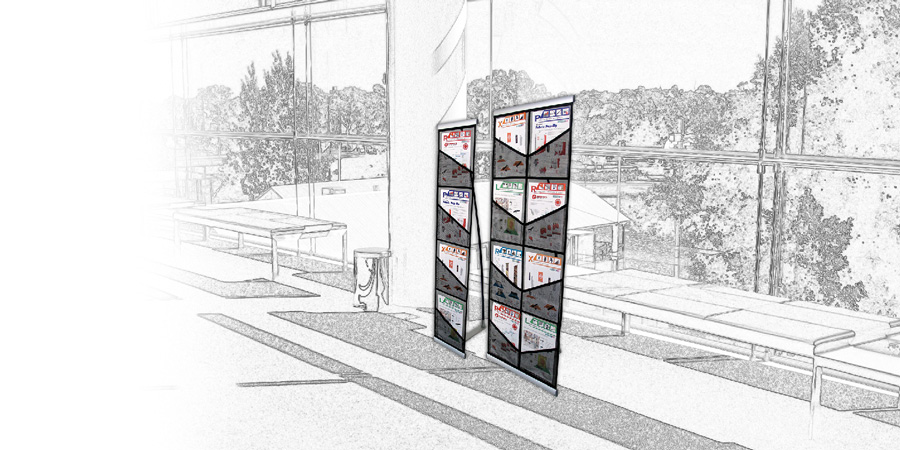 Brochure Stands Retractable Portable Display Pocket Style