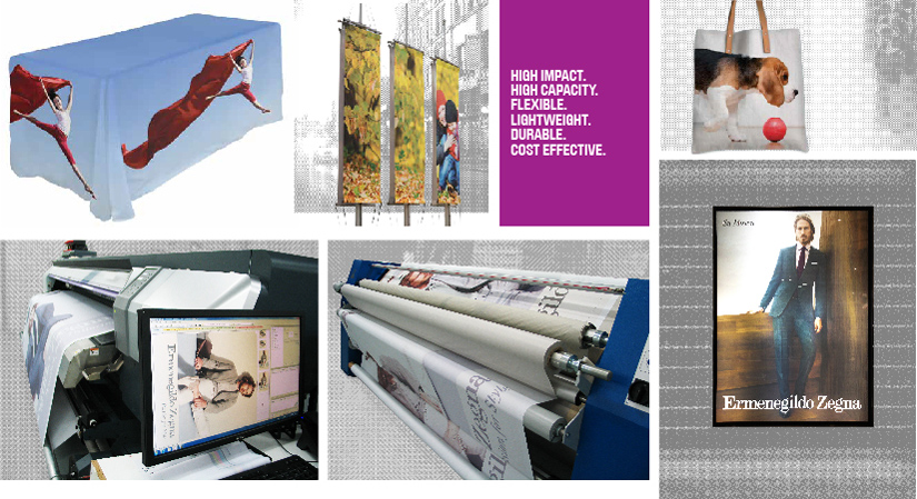 Dye Sublimation Digital Textile Fabric Printing Portable Displays Large Grand Format