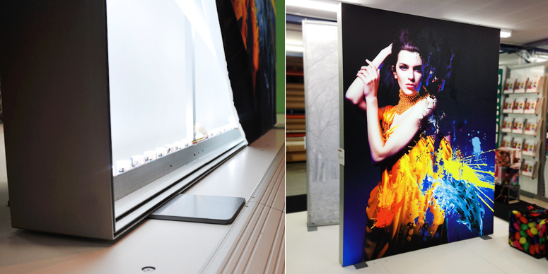 TexFrame Backlit Fabric Displays Portable
