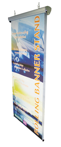 morised rolling banner stand