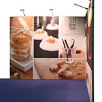 Fabric Straight Corner Exhibition Booth with Lights 3x3